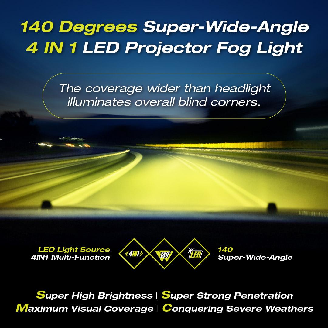 A Super Wide Angle LED Projector Fog Light mb